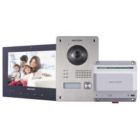 Kit portier vidéo couleur 2 fils Hikvision DS-KIS701