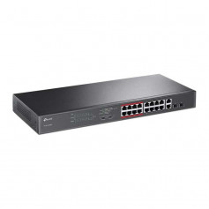 TP-Link TL-SL1218MP switch PoE+ 16 ports longue distance 250 mètres