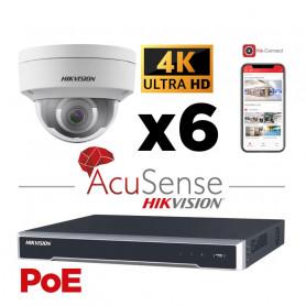 Kit vidéosurveillance AcuSense 4 caméras 4K H265+ vision de nuit IR 30 mètres