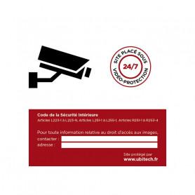 Sticker autocollant vidéosurveillance polymère vinyle